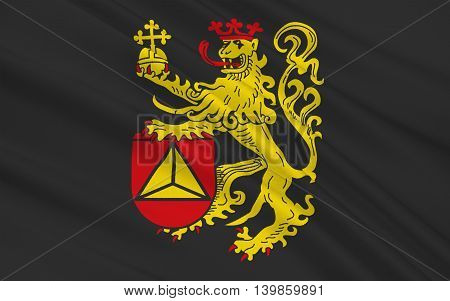 Flag of Frankenthal is a town in southwestern Germany in the state of Rhineland-Palatinate. 3d illustration