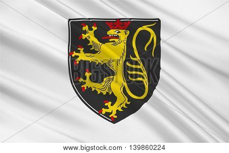 Flag of Neustadt an der Haardt is a town located in Rhineland-Palatinate Germany. 3d illustration