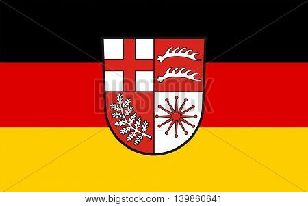 Flag of Losheim am See is a municipality in the district Merzig-Wadern in Saarland Germany