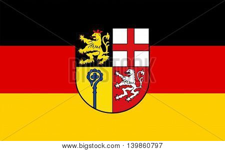 Flag of Saarpfalz is a Kreis (district) in the south-east of the Saarland Germany. 3d illustration