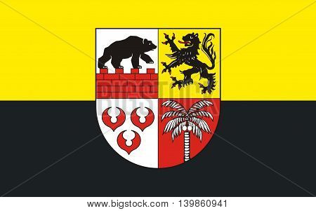 Flag of Anhalt-Bitterfeld is a district in Saxony-Anhalt Germany