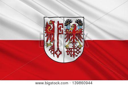 Flag of Salzwedel is a town in Saxony-Anhalt Germany. 3d illustration