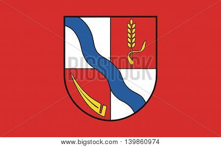Flag of Borde a district in Saxony-Anhalt in Germany