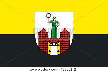 Flag of Magdeburg is the capital city of the state of Saxony-Anhalt Germany.