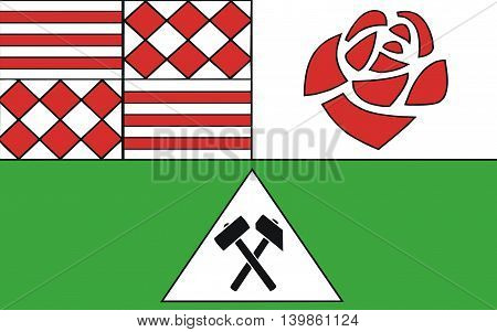 Flag of Mansfeld-Sudharz is a district in Saxony-Anhalt Germany