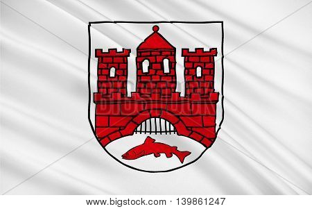 Flag of Wernigerode is a town in the district of Harz Saxony-Anhalt Germany. 3d illustration