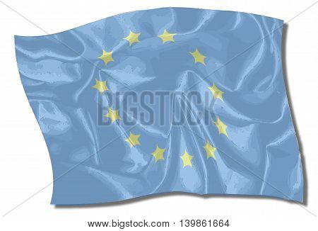 Flag of the European Union with blue background and yellow stars
