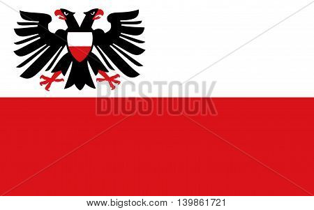 Flag of Lubeck is a city in Schleswig-Holstein northern Germany
