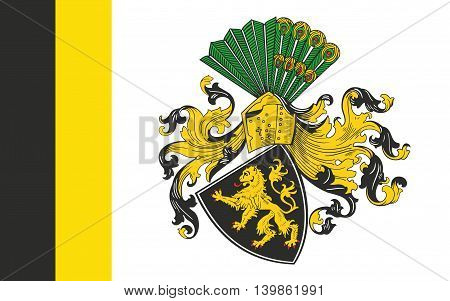 Flag of Gera is the third-largest city in Thuringia Germany