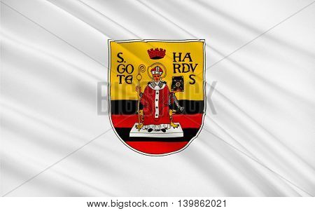 Flag of Gotha is the fifth-largest city in Thuringia Germany. 3d illustration