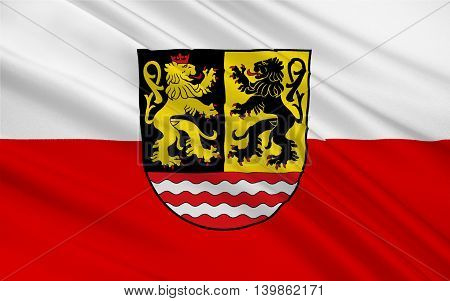 Flag of Saale-Orla is a Kreis (district) in the east of Thuringia Germany. 3d illustration