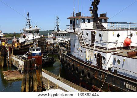 Coos Bay Tugboats, Southern Oregon Coast, USA