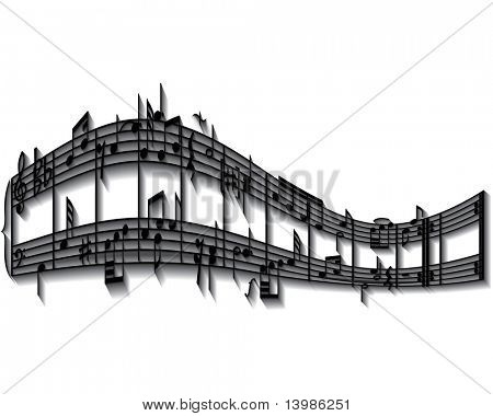 Musical notes staff background. Also in my portfolio you can find vector version of this picture.
