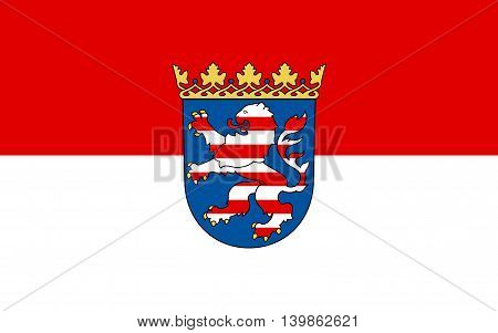 Flag of Hesse the land of Germany. Capital - the city of Wiesbaden.