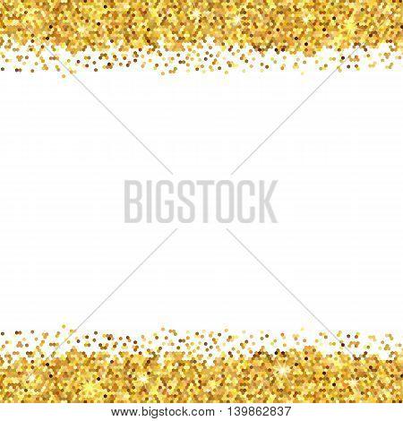 Gold Sparkles On White Background. Gold Glitter Background.