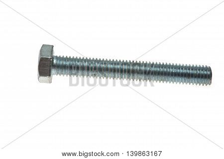 Bolt Isolated On White, Close Up