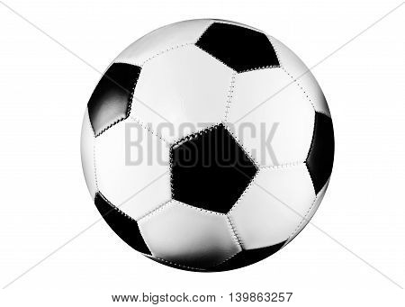 Black and white soccer ball isolated on white background.