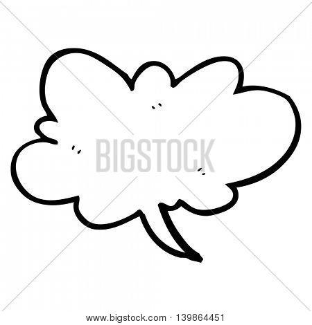 freehand drawn black and white cartoon steam design element