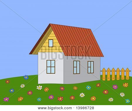 House on a meadow