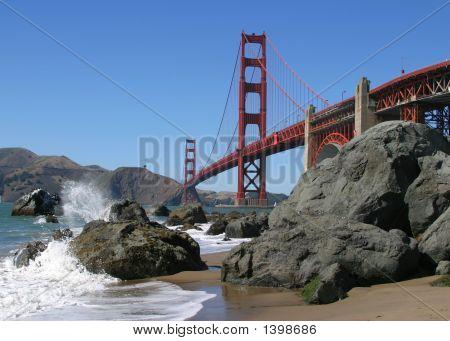Golden Gate Bridge Beach View