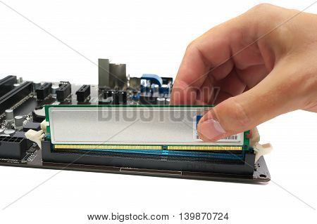 Installing A Memory Module On The Motherboard
