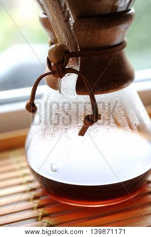 fresh coffee brewing alternative method pour over