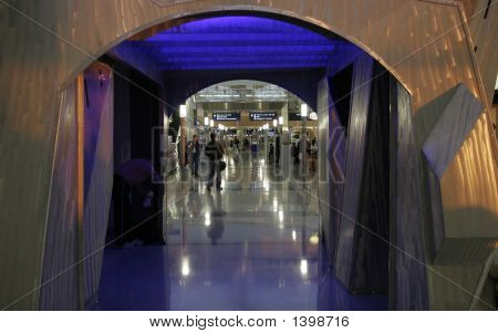 Passengers In Modern Airport