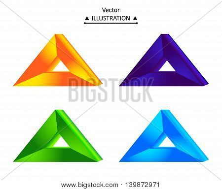 Triangle technology company symbol design set. eps10 vector illustration