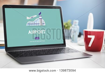 Airport Business Trip Flights Travel Information Concept
