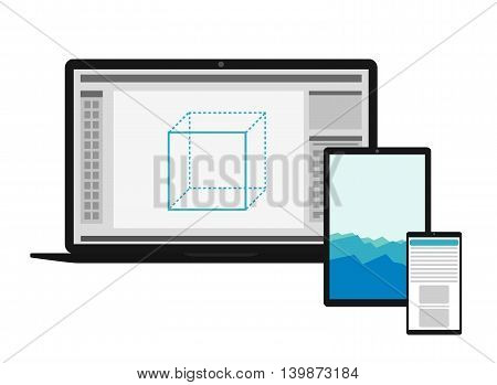 Electronics Set With Different Screens