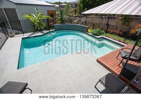 Tile Floor Of A Modern Swimming Pool