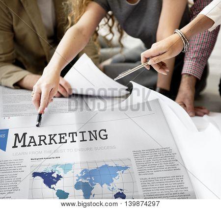 Marketing Branding Campaign Commercial Design Concept