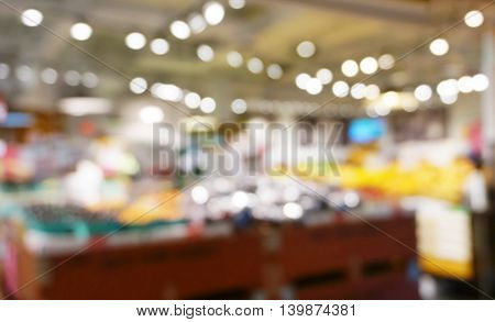colorful bokeh blur of department store shopping background