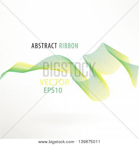 Vector artistic fractal ribbon design. Moving colorful abstract background for poster, flayer, banner, cover, business card, presentation, Illustration. Art fractal concept.