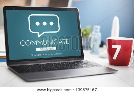Communicate Online Conversation Message Concept