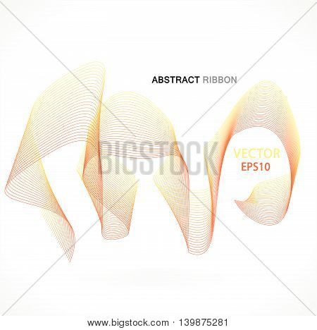 Vector abstract fractal ribbon design. Moving colorful artistic background for poster, flayer, banner, cover, business card, presentation, Illustration. Art fractal concept.