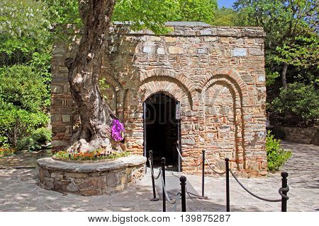 The House of the Mary (Meryemana) believed to be the last residence of Mary mother of Jesus. Ephesus, Turkey