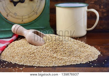 Vintage Kitchen With Quinoa Grain