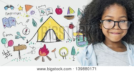 Summer Camp Learning Exploration Outdoors Concept