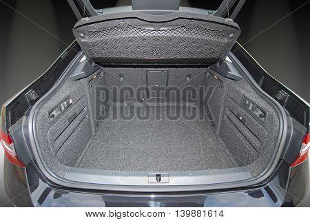 Empty trunk of the large car, studio shot