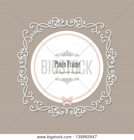 Lacy round frame. Can be used for wedding design.