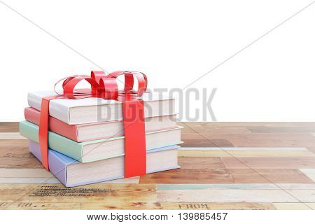 Pile Of Books With Ribbon