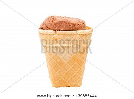 ice-cream cone wafer isolated on white background
