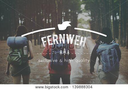 Fernweh Adventure Traveling Exploration Journey Concept
