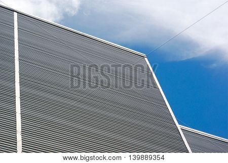 metallic wall building background business graphic blue sky