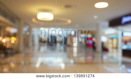 colorful bokeh blur of shopping mall background