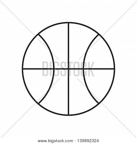 Line icon basketball ball. Sport. Vector illustration.