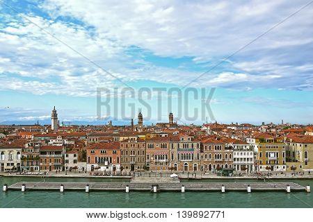 A beuatiful panoramic view of Venice, ITALY.