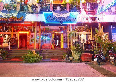 PATTAYA, THAILAND - CIRCA FEBRUARY, 2016: Pattaya at night time. Pattaya is a resort city in Thailand.