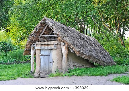 Ancient Barn With A Straw Roof
